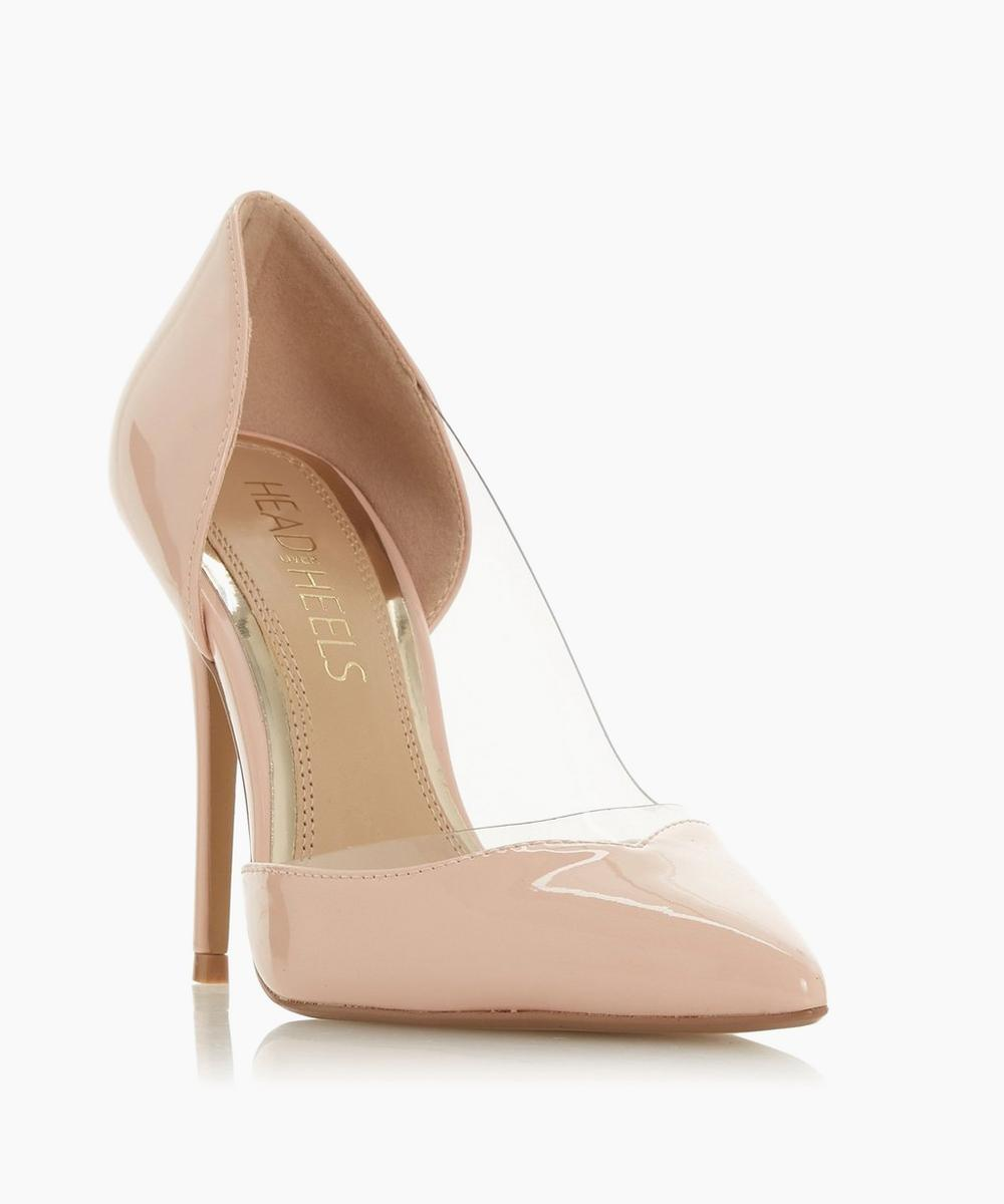 nude court shoes